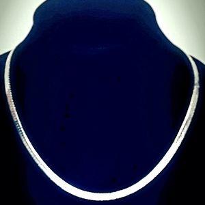 "Jewelry - 20"" Sterling Silver 6.5mm Herringbone Chain"